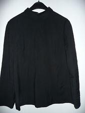 COS Bluse Shirt Blusenshirt Gr. 36 schwarz Viskose Zipper Langarm