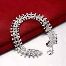 Fashion 925 Silver plated Jewelry Fish bone Bracelet For Women H050