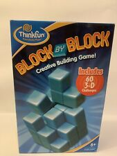 Block By Block Creative Building Puzzle Game Educational Think Fun Brain Game