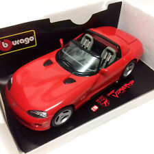 Burago Toys Die Cast 1:18 Red 1992 DODGE VIPER automobile car, fast need