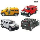 """4 PC Set 5"""" New Kinsmart 2008 Hummer H2 SUV 1:40 Diecast Toy Car Model"""