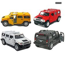 "4 PC Set 5"" New Kinsmart 2008 Hummer H2 SUV 1:40 Diecast Toy Car Model"