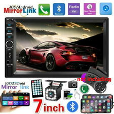 "7""  2 DIN Car Stereo Bluetooth Radio Touch Screen USB AUX IN MP5 Player + Camera"