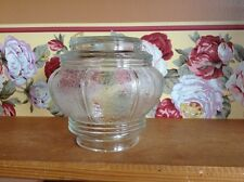 Small vintage clear glass wall ceiling light shade