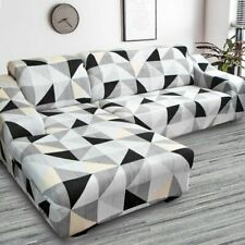 2 Pieces Corner Sofa Cover Elastic For Living Room Printed Cover Sofa Slipcovers