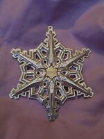 "1983 Gorham Sterling Silver Annual Christmas Snowflake Ornament 3 1/4"" A"
