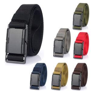 "1.26"" Nylon Webbing Belt with Quick Release Magnetic Buckle Tactical Mens Belt"