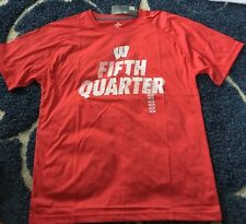 Nwt Men'S Ncaa Wisconsin Badgers T-shirt Fifth Quarter Size Large Red