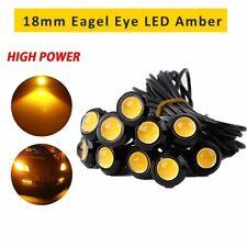10x Amber Yellow 18MM Eagle Eye LED Fog DRL Reverse Backup Light 12V Motor Lamps