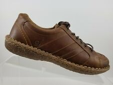 Born Concept Melissa Brown Leather Lace Up Flats Shoes Womens 7.5M/W W62112