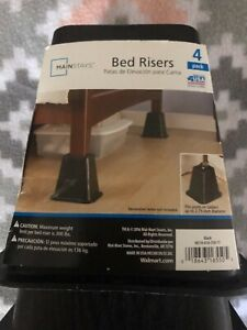 mainstays bed risers 4 pack (free shipping)