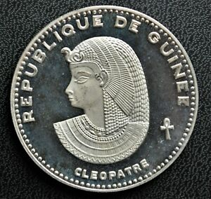 1970 Guinea 500 francs Pure Silver Coin - Cleopatra