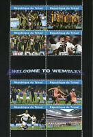 Chad 2019 MNH Welcome Wembley Ronaldo Harry Kane 8v M/S Football Sports Stamps