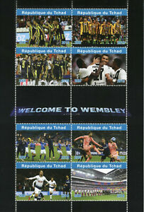 Chad 2019 MNH Welcome Wembley Ronaldo Harry Kane 8v M/S Football Sports Stamps