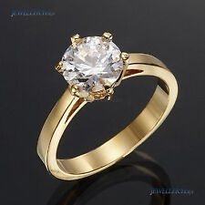 18K Yellow Gold Layered Simulated Diamond Ring Size 7.5 allu_R514-Y-7.5
