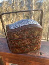 Vintage Chinese Porcelain Wedding Basket Box