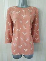 Ladies Womens Ex NEXT Blouse Shirt Tunic Top Vintage Print Sleeve Office Work