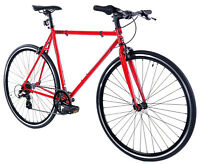 Golden Cycles Velo Revo Shift 7 speed Bicycle Bike Red 41 45 48 52 55 59 62 CM