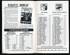 1991 Fosters Cup St Kilda vs West Coast Eagles Football Record St Kilda won game