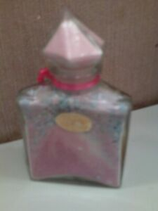 Decorative bath salts glass container