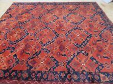A SENSATIONAL OLD HANDMADE AFGHAN ORIENTAL WOOL ON WOOL CARPET (343 x 310 cm)