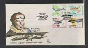 South West Africa 1989 Aviation FDC Per Scan