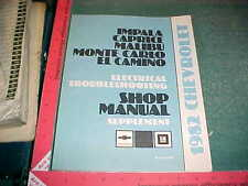 1982 MALIBU  EL MONTE EL CAMINO CAPRICE IMPALA ELECTRICAL TROUBLESHOOTING MANUAL