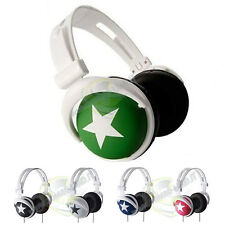 CUFFIE STEREO CON FASCIA REGOLABILE MUSIC STYLE DJ HEADPHONES LETTORE PC IPHONE