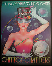 Chitter Chatters 1981 Acard Company Incredible Talking Card Store Display