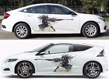 Anime Gun Girl Manga Car Doors Graphics Vinyl Stickers Decal fit any Auto