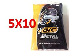 50 BIC METAL Mens Einwegrasierer (5 Packs of 10 Shavers) Versand kostenfrei