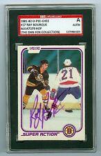 Ray Bourque Vintage Autograph 1981-82 OPC Card #17 Bruins SGC Authentic Encased