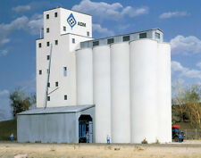 Walthers Cornerstone HO Scale Building/Structure Kit ADM Grain/Feed Elevator