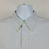 Ralph Lauren Blake Blue White Oxford Striped Mens Dress Button Shirt Size XL