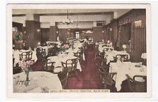 Grill Room Hotel Bristol New York City 1942 postcard