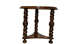 Antique French Barley Twist Occasional Table, 1920's