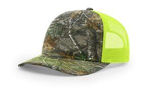 New Richardson 112P Printed Trucker Ballcap Hat Mossy Oak Realtree Kryptek