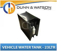 Vehicle Water Storage Tank, Pump Bottle (23Ltr) Black PVC Ute Tray Truck Trailer