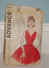 New ListingVintage Advance # 9265 Printed Sewing Pattern Misses' Dress / Size 10 1950s