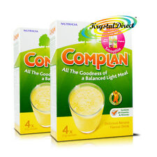 2x Complan Banana Nutrition Vitamin Supplement Protein Energy Drink 4x55g