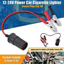 12 V Batería de coche Socket Adaptador para encendedor de cigarrillos con pinzas de cocodrilo ocio Reino Unido