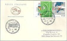 2002 CAMPIONI MONDIALI CALCIO 1934 1938 1982 annullo postale busta francobollo