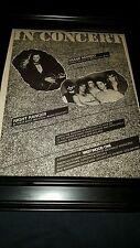 Frank Marino & Night Ranger Rare Westwood One Concert Promo Poster Ad Framed!