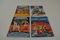 Masters of the Universe Mini Comic Books MOTU x 4 He Man Skeletor Geldor 1980s