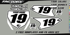 Yamaha YZ 65 18-19 Pre Printed Number plate Backgrounds  by Factory Backing