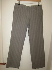 CALVIN KLEIN COTTON CINCH BACK TROUSERS PANTS SLACKS 10-12 LONG baggy
