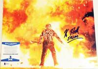 KANE HODDER SIGNED 11x14 METALLIC PHOTO JASON FRIDAY 13TH BECKETT BAS COA 865