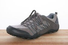SKECHERS 63556 Charcoal Gray Suede Leather Casual Athletic Sneakers Men's 11.5