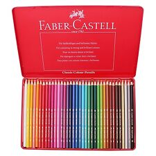 Faber Castell Classic Color Pencils Tin Case 36 Colors School Drawing Painting