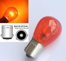 2x Amber Turn Signal Front Rear Indicator Flasher Light Bulbs BAU15S PY21W 21W